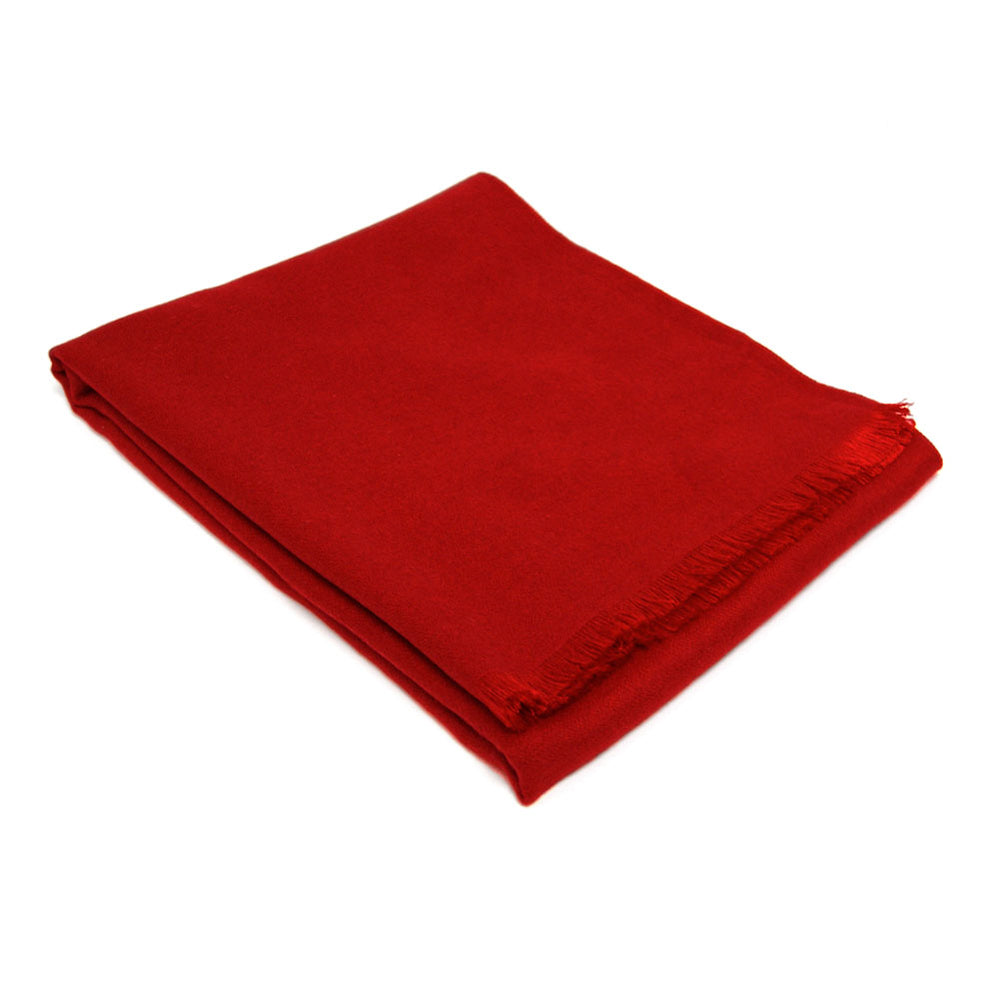 Red Solid Color Winter Scarf