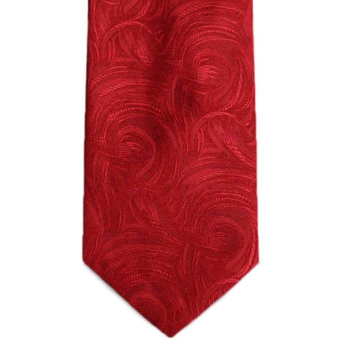 Red Granville Swirl Pattern Extra Long Necktie
