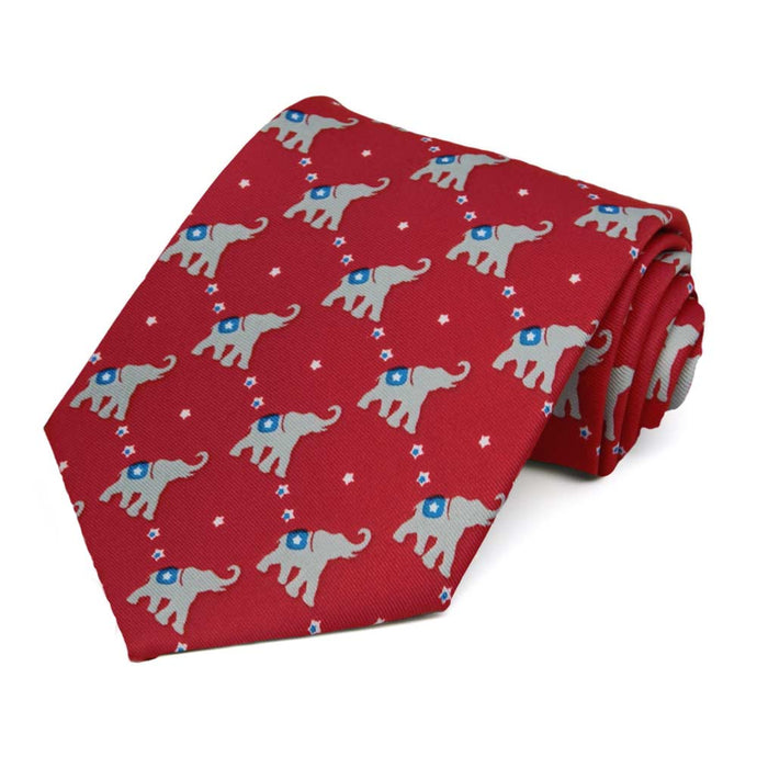 Republican Elephant Extra Long Necktie