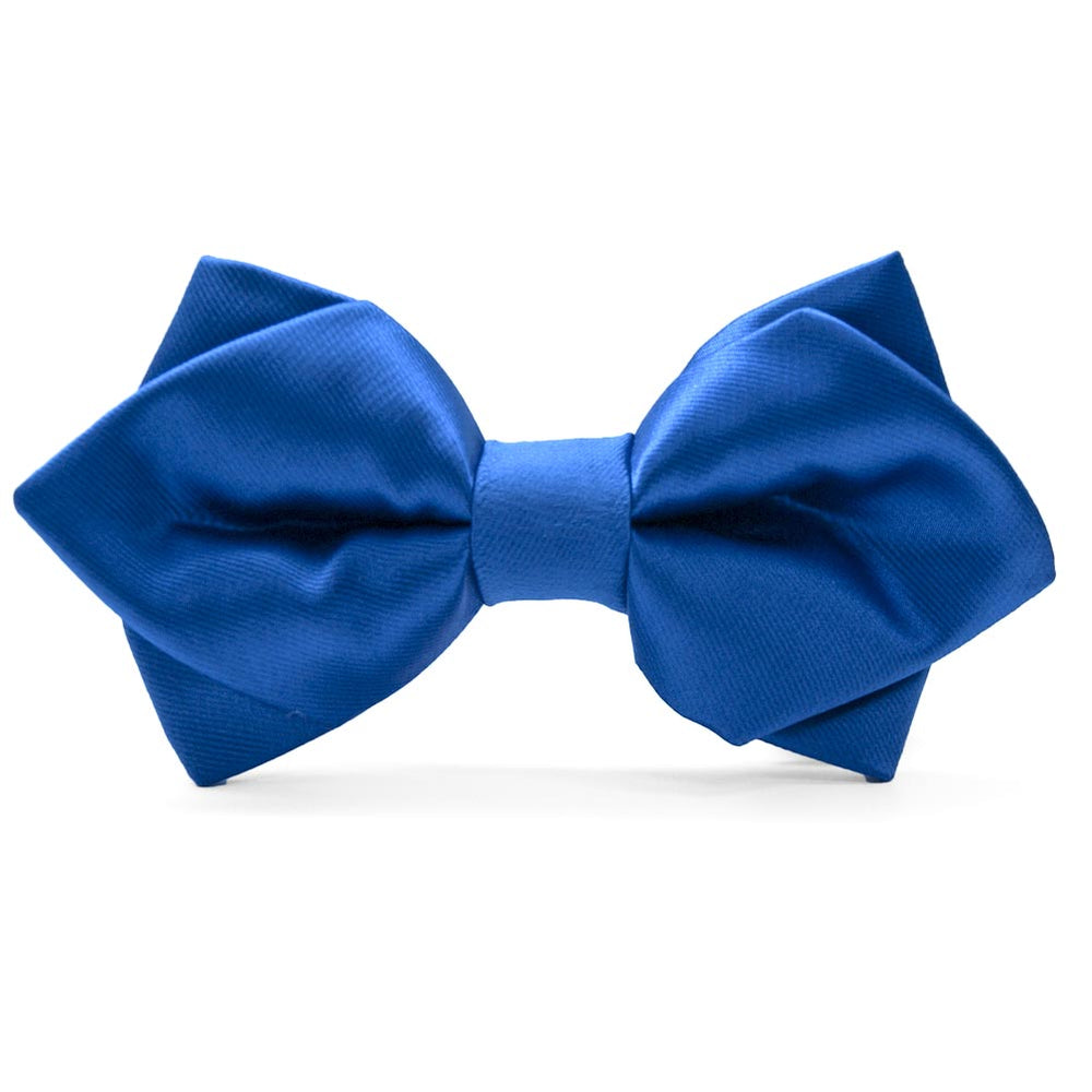 Royal Blue Diamond Tip Bow Tie