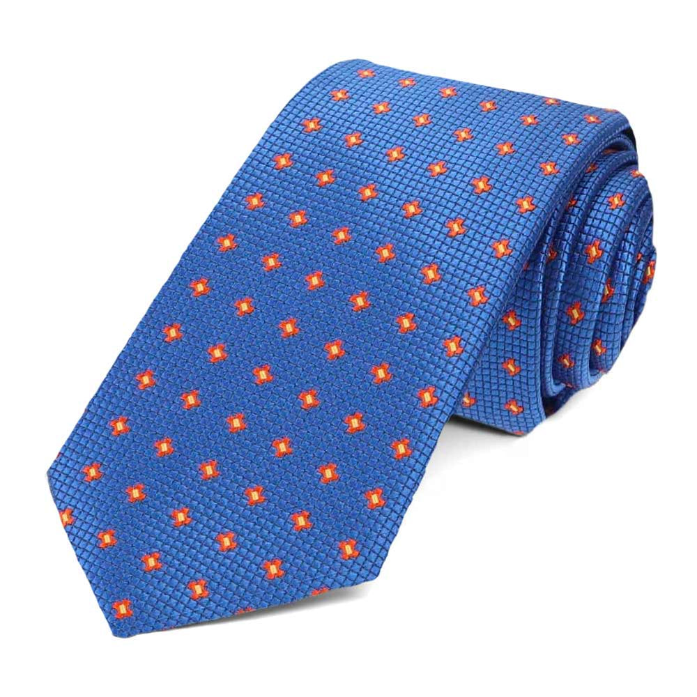 Royal Blue Hoffner Dotted Slim Necktie