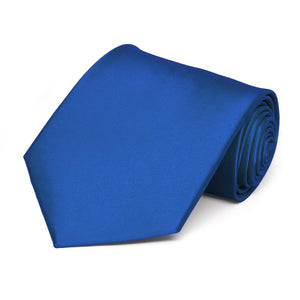 Royal Blue Extra Long Solid Color Necktie