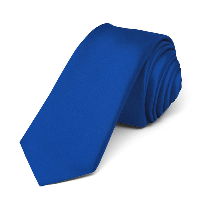 Royal Blue Skinny Woven Staff Tie, 2