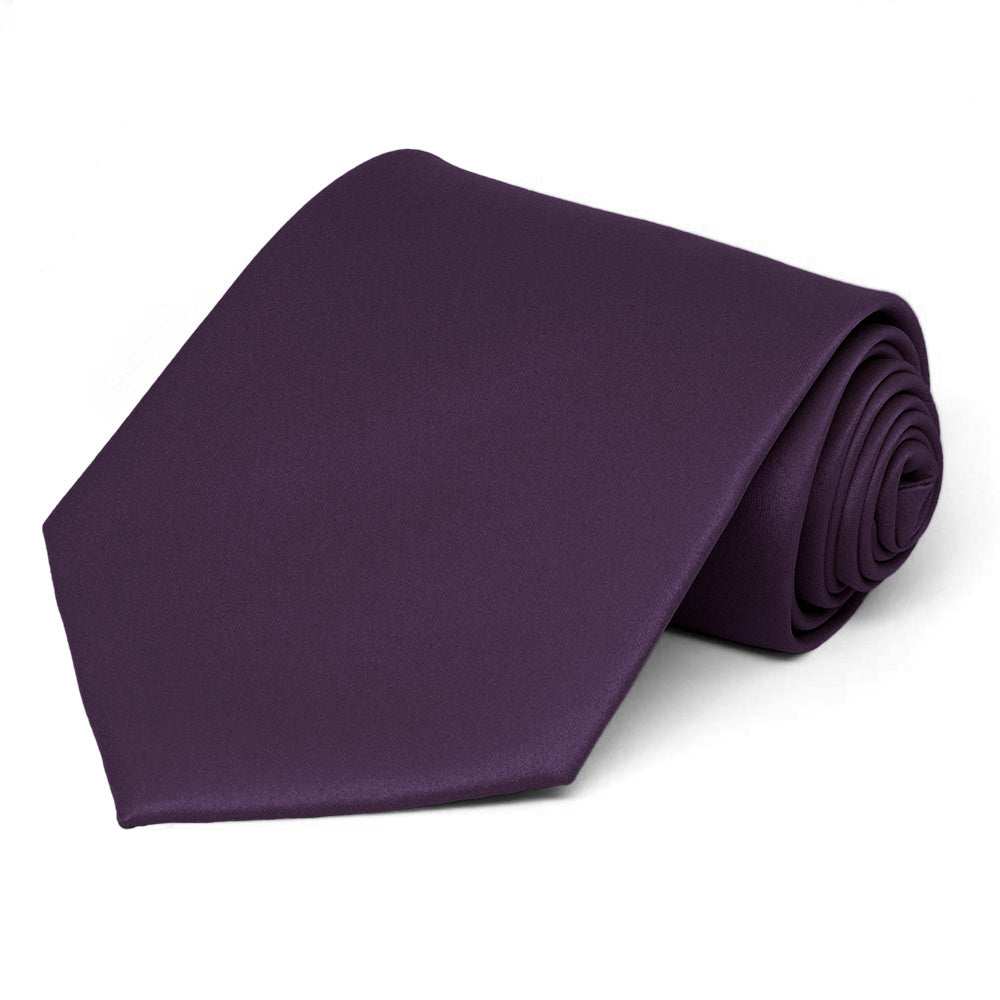 Royal Plum Extra Long Solid Color Necktie