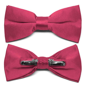 Ruby Red Clip-On Bow Tie