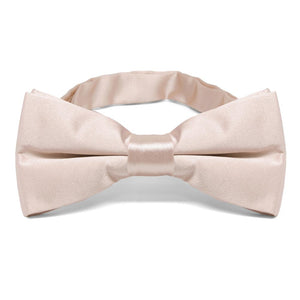 Sand Pink Band Collar Bow Tie