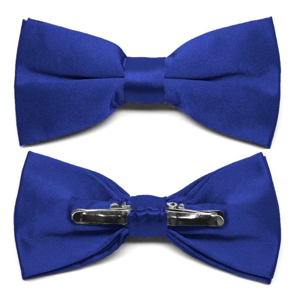 Sapphire Blue Clip-On Bow Tie