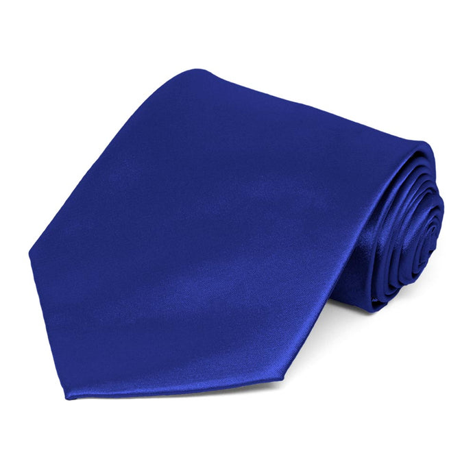 Sapphire Blue Extra Long Solid Color Necktie