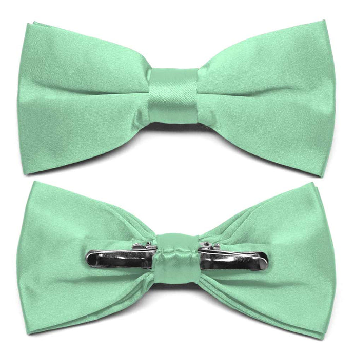 Seafoam Clip-On Bow Tie