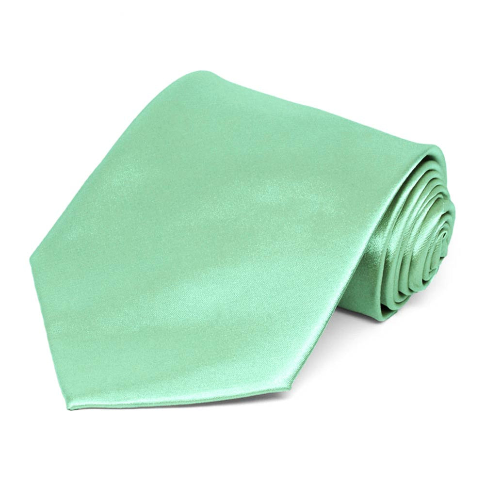 Seafoam Extra Long Solid Color Necktie