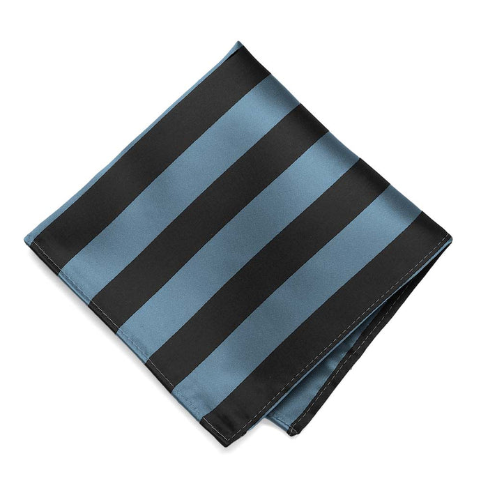 Serene and Black Striped Pocket Square
