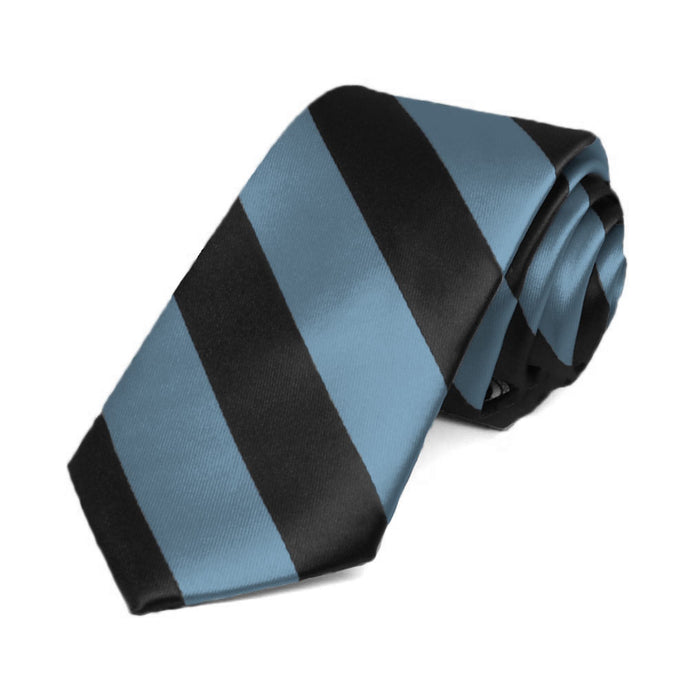 Serene and Black Striped Slim Tie, 2.5