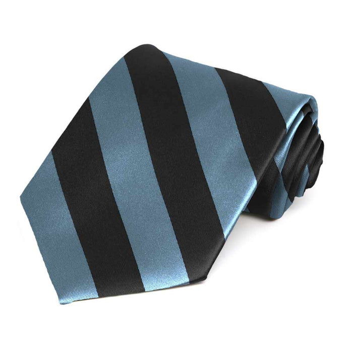 Serene and Black Striped Tie
