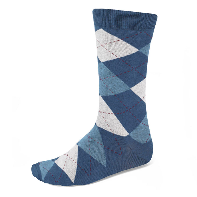 Men's Steel Blue and Serene Argyle Socks