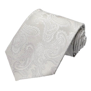 Silver Sutter Paisley Extra Long Necktie