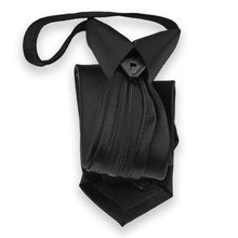 Load image into Gallery viewer, Skinny Black Solid Color Zipper Tie