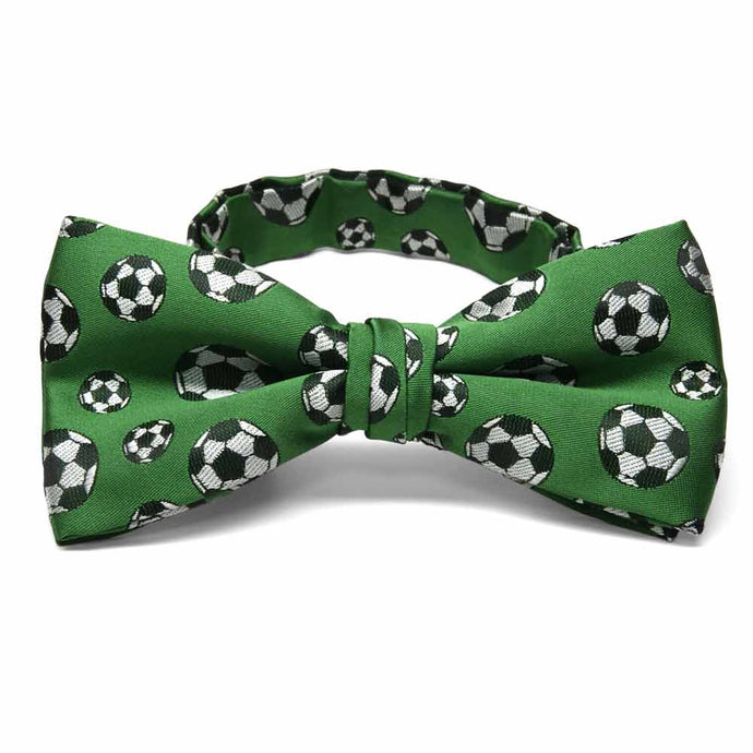 Green Soccer Bow Tie