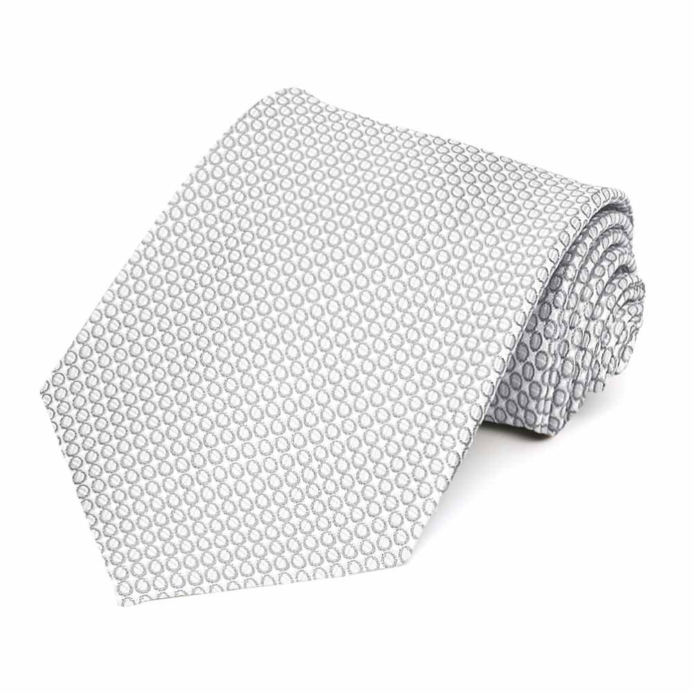 Soft Gray Henry Grain Pattern Necktie