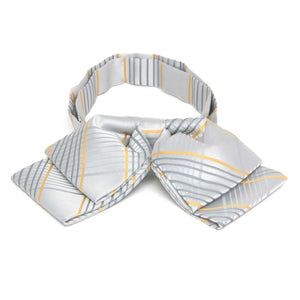 Soft Gray Jeffrey Plaid Floppy Bow Tie