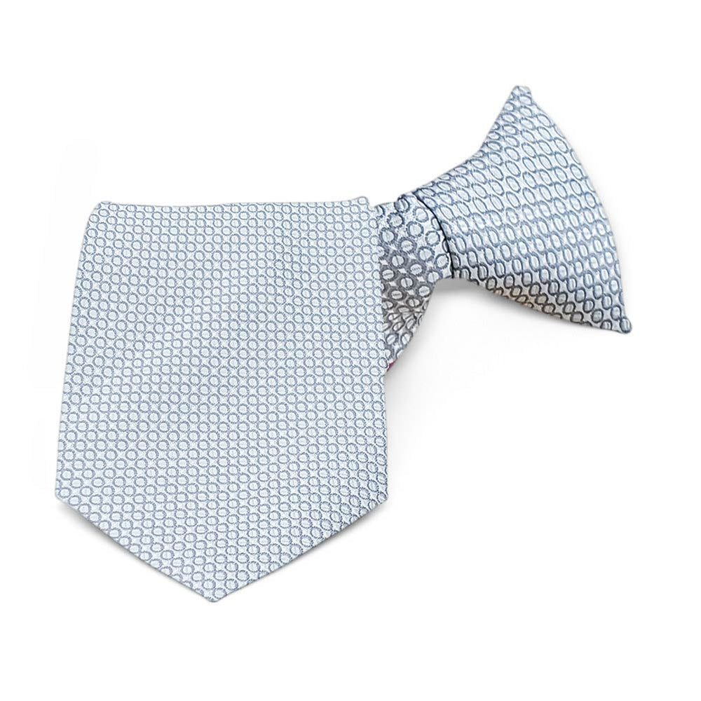 Soft Gray Henry Grain Pattern Clip-On Tie