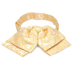Soft Yellow Clara Paisley Floppy Bow Tie