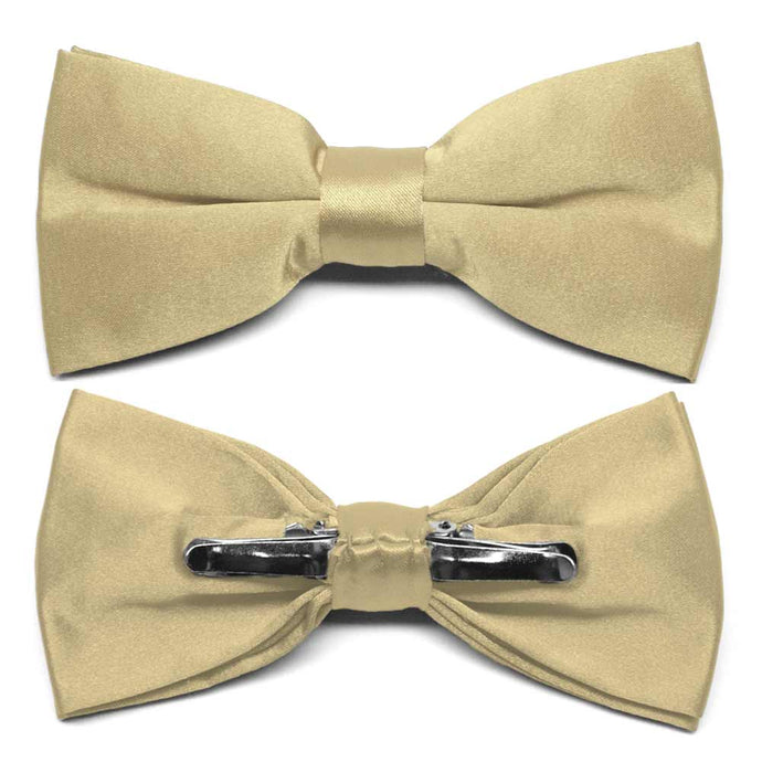 Sparkling Champagne Clip-On Bow Tie