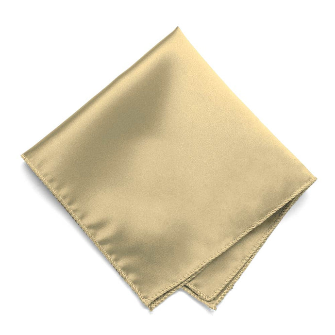 Sparkling Champagne Solid Color Pocket Square