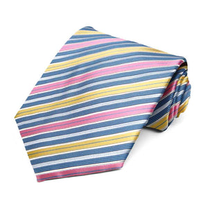 Colorful spring striped tie