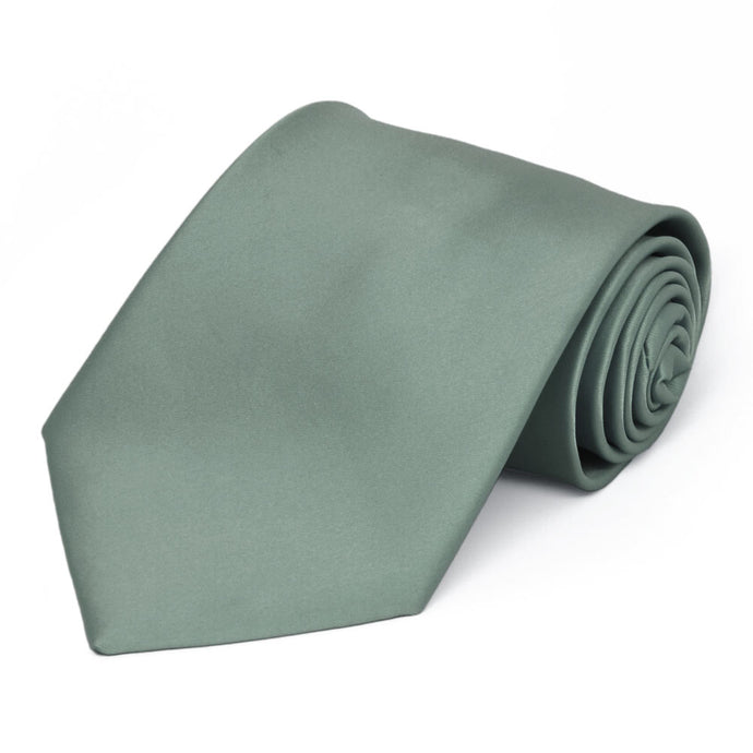 Stormy Gray Premium Extra Long Solid Color Necktie