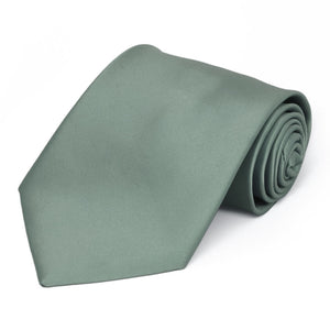 Stormy Gray Premium Solid Color Necktie