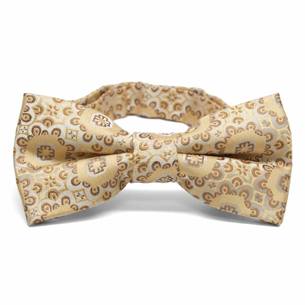 Straw Emma Floral Pattern Band Collar Bow Tie
