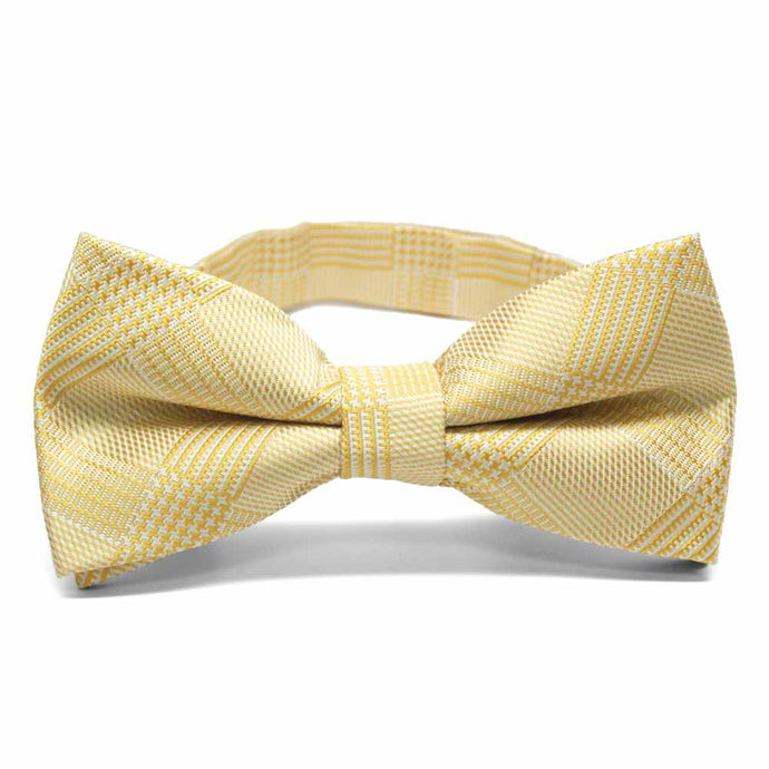 Sunflower Yellow Michael Glen Plaid Band Collar Bow Tie