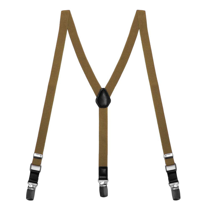 Tan Skinny Suspenders