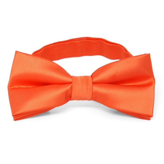 Tangerine Band Collar Bow Tie
