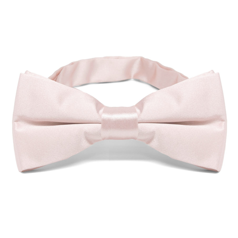 Tea Rose Pink Band Collar Bow Tie