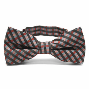 Terracotta George Plaid Band Collar Bow Tie