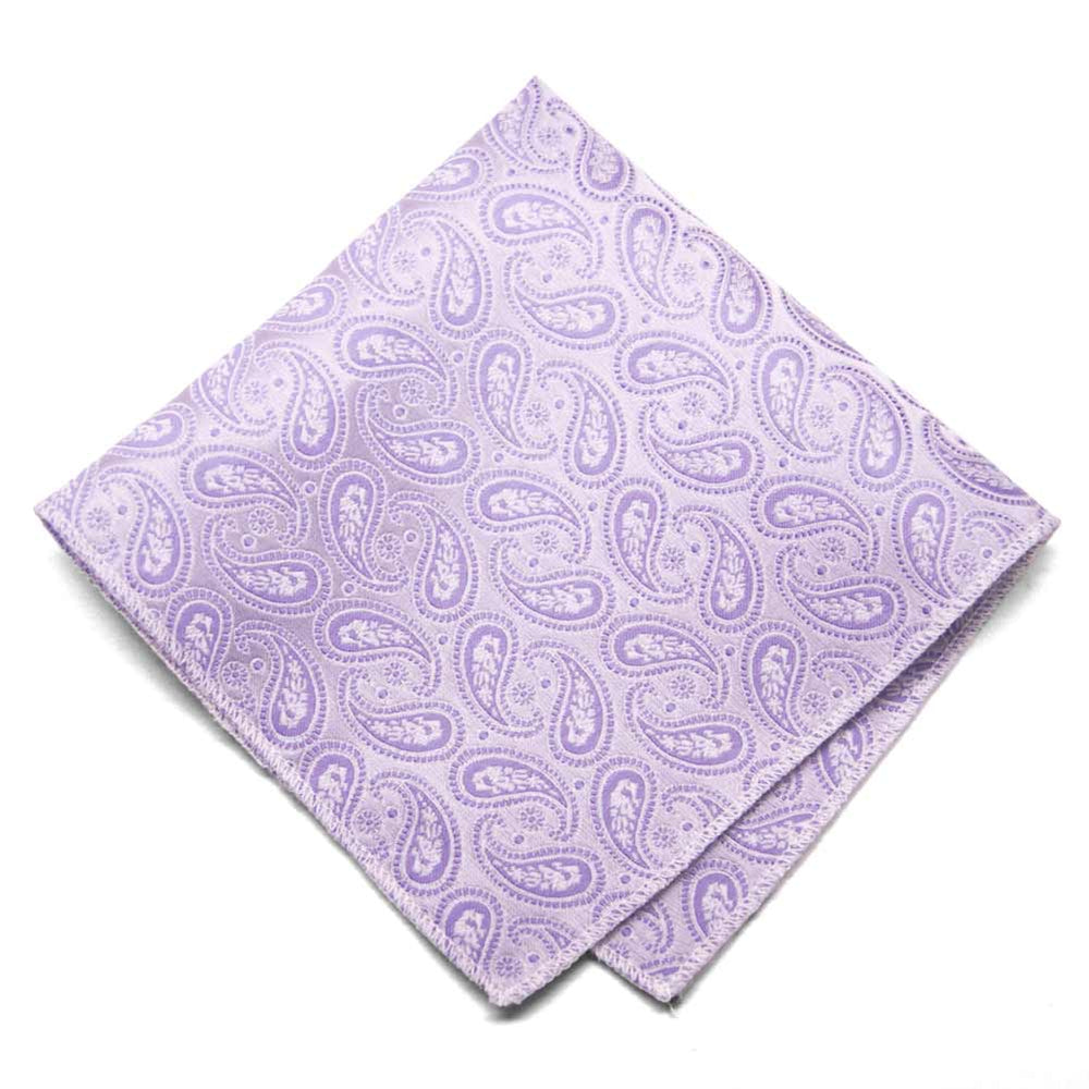 Thistle Purple Darlene Paisley Pocket Square