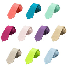 Load image into Gallery viewer, Trendy Solid Color Skinny Neckties, 10-Pack