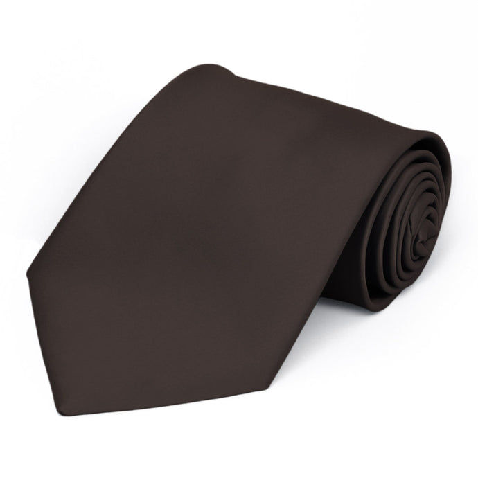 Truffle Brown Premium Extra Long Solid Color Necktie