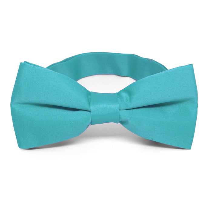 Turquoise Band Collar Bow Tie