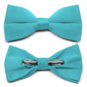 Turquoise Clip-On Bow Tie