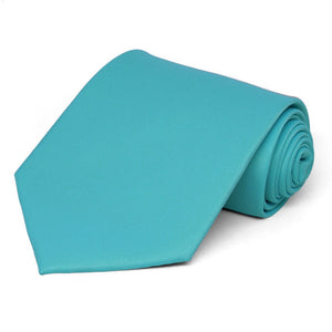 Turquoise Extra Long Solid Color Necktie