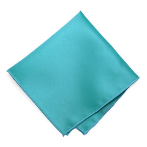 Turquoise Solid Color Pocket Square