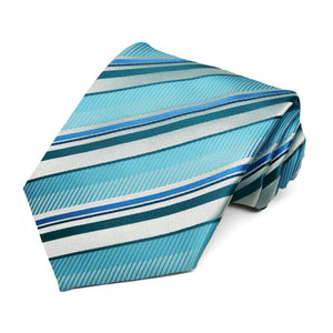 Turquoise Missoula Striped Necktie