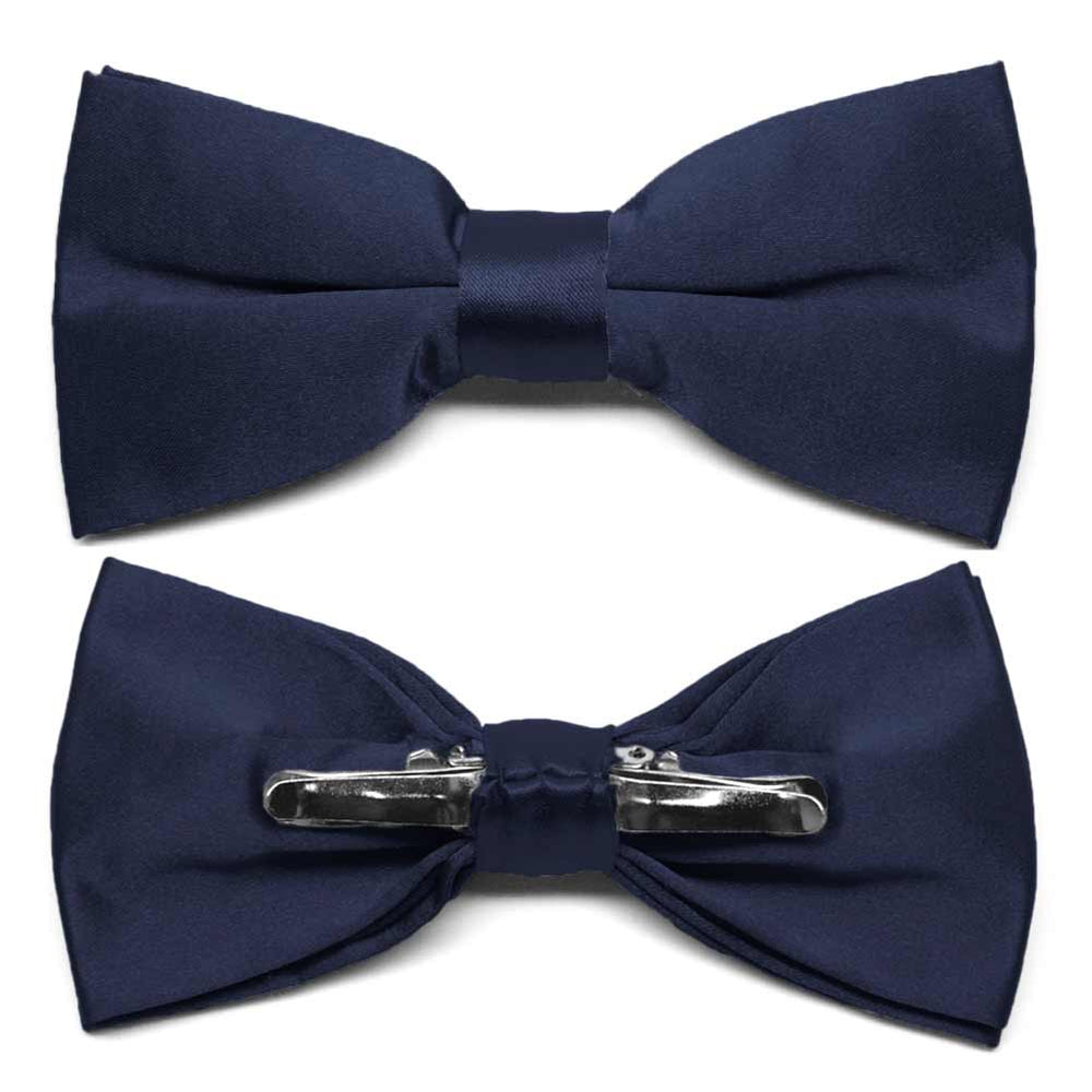 Twilight Blue Clip-On Bow Tie