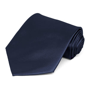 Twilight Blue Extra Long Solid Color Necktie