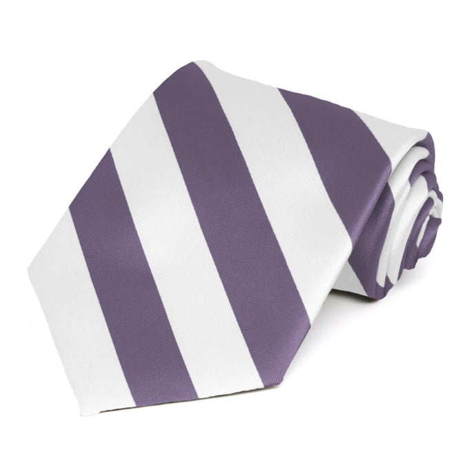 Victorian Lilac and White Striped Tie