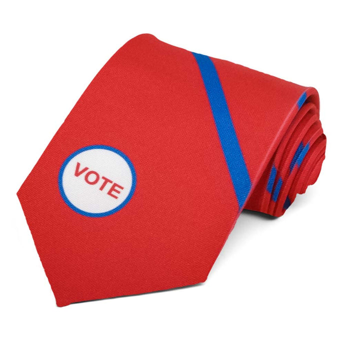 Red and blue striped vote tie