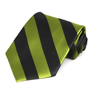 Wasabi and Black Striped Tie
