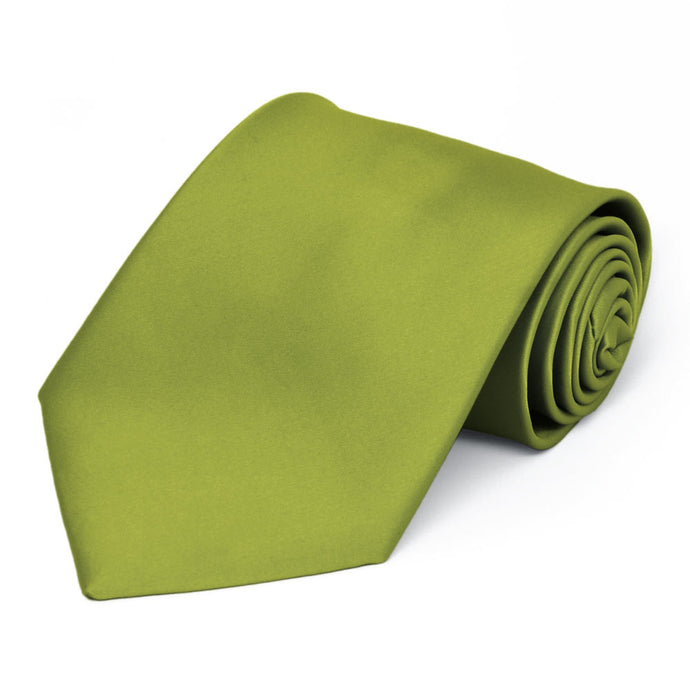 Wasabi Premium Extra Long Solid Color Necktie